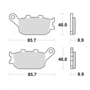 SBS 앞브레이크 패드 657HF:CBR900RR,CBR600F3,CBR400F